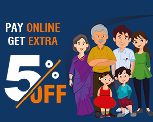 Get 5% Discount on Online
